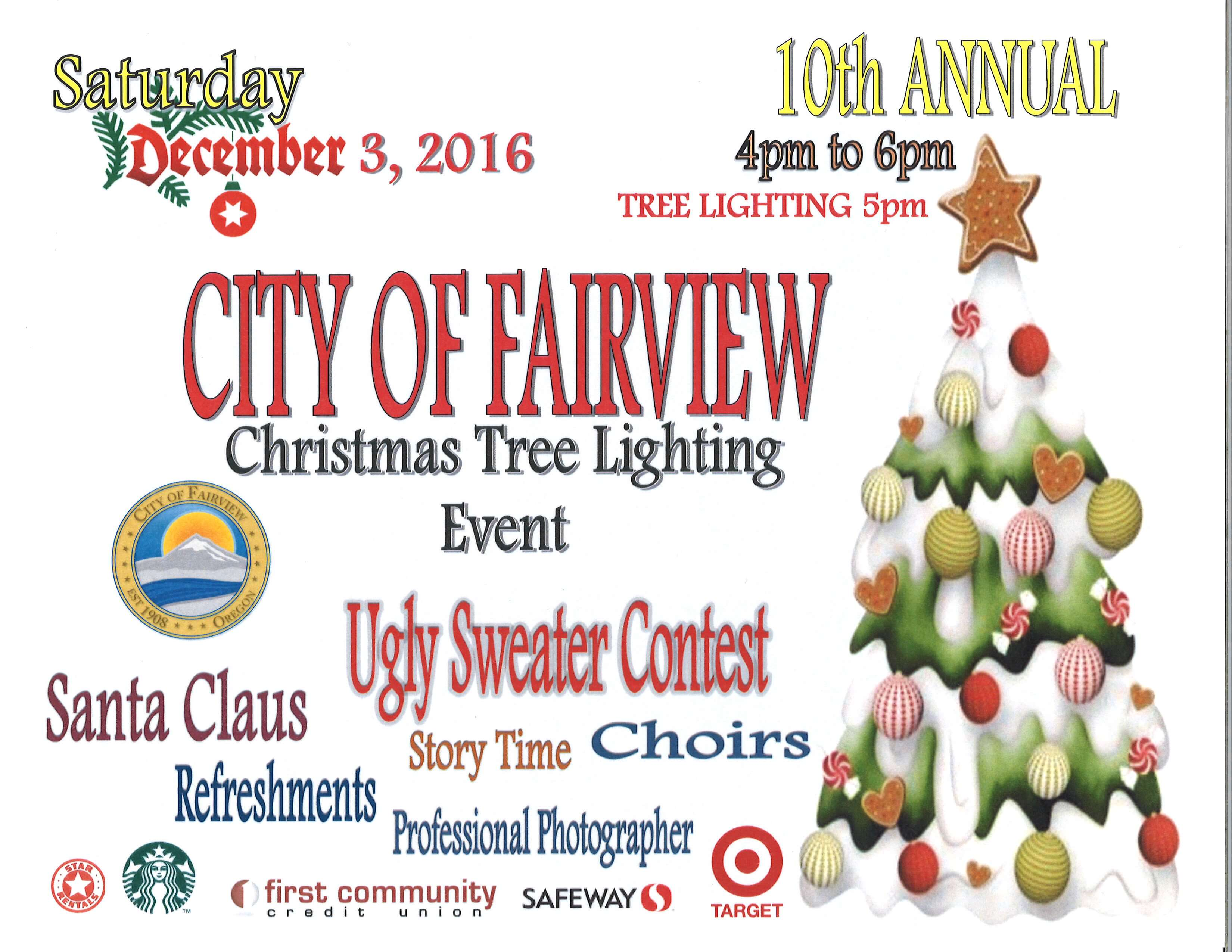 Tree Lighting-Fairview   West Columbia Gorge Chamber of Commerce ...